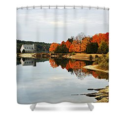 Autumn Evening At The Reservoir Shower Curtain