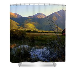 Shower Curtain featuring the photograph Autumn Evening by Karen Shackles