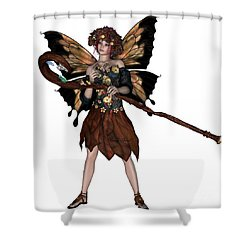 Autumn Fairy Shower Curtain by Corey Ford
