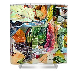 Autumn Falls Shower Curtain by Mindy Newman