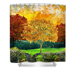 Autumn Fantasy Shower Curtain by Ally White