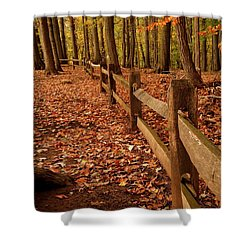 Shower Curtain featuring the photograph Autumn Fence by Angie Tirado