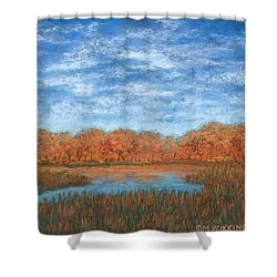 Autumn Field 01 Shower Curtain