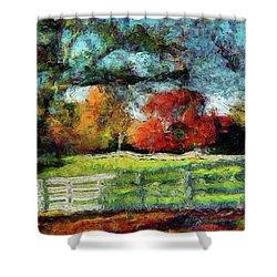 Autumn Field On The Farm Shower Curtain