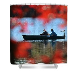 Autumn Fishing Smithtown New York Shower Curtain by Bob Savage