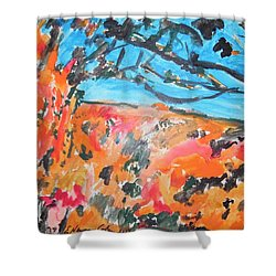 Autumn Flames Shower Curtain by Esther Newman-Cohen