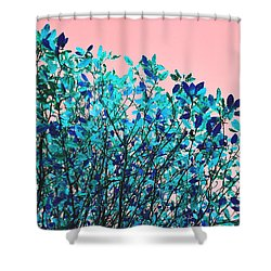 Autumn Flames - Peach Shower Curtain