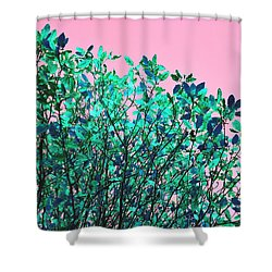 Autumn Flames - Pink Shower Curtain