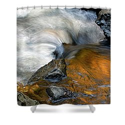 Autumn Flow Shower Curtain by Dave Mills