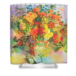 Autumn Flowers  Shower Curtain by Claire Spencer