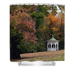 Autumn Gazebo Shower Curtain by Elsa Marie Santoro