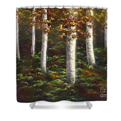 Shower Curtain featuring the digital art Autumn Ghosts by Amyla Silverflame