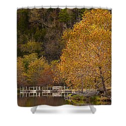 Shower Curtain featuring the photograph Autumn Glory In Beaver's Bend by Tamyra Ayles