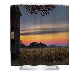 Shower Curtain featuring the photograph Autumn Glow by Bill Wakeley