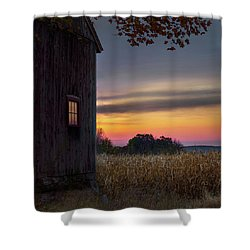 Shower Curtain featuring the photograph Autumn Glow Square by Bill Wakeley