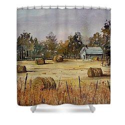 Autumn Gold Shower Curtain by Ryan Radke