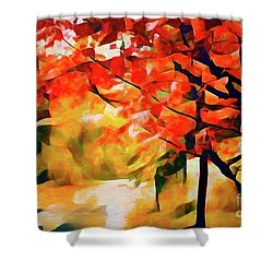 Glorious Foliage On The Rail Trail - Abstract Shower Curtain