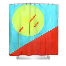 Shower Curtain featuring the painting Autumn Harvest by J R Seymour