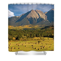 Autumn Hay In The Rockies Shower Curtain