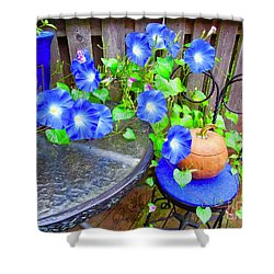 Autumn Heavenly Blues  Shower Curtain