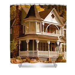 Autumn House Shower Curtain by David Lee Thompson