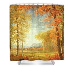 Autumn In America Shower Curtain by Albert Bierstadt