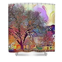 Autumn In Bavaria Shower Curtain by Jim Pavelle