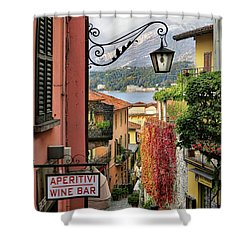 Autumn In Bellagio Shower Curtain by Jennie Breeze
