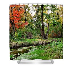 Autumn In Bloom Shower Curtain