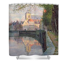Autumn In Bruges Shower Curtain by Omer Coppens