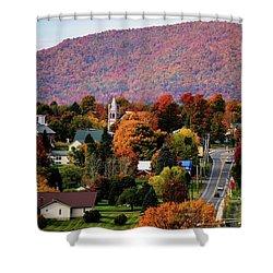 Autumn In Danville Vermont Shower Curtain