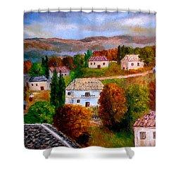 Autumn In Greece Shower Curtain