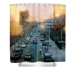 Autumn In Harlem Shower Curtain by Diana Angstadt