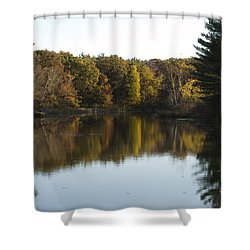 Autumn In Mears Michigan Shower Curtain by Tara Lynn