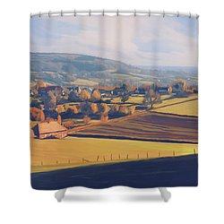 Autumn In Mechelen Shower Curtain by Nop Briex