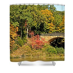 Autumn In Mill Creek Park Shower Curtain