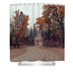 Autumn In Montana Shower Curtain by Cathy Anderson