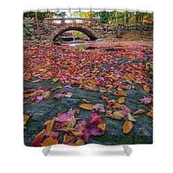 Autumn In New England Shower Curtain by Rick Berk