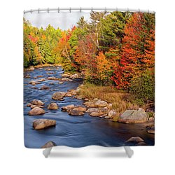 Autumn In New Hampshire Shower Curtain