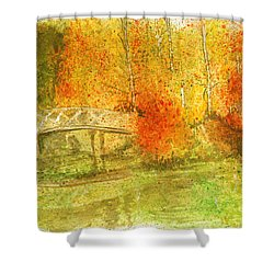 Autumn Landscape Painting  Shower Curtain by Remy Francis