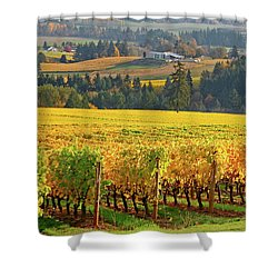 Autumn In Oregon Wine Country Shower Curtain
