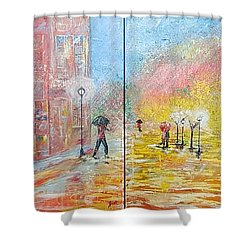 Autumn In Paris Shower Curtain by Judi Goodwin