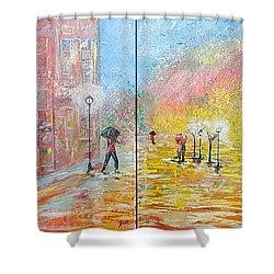 Autumn In Paris Shower Curtain