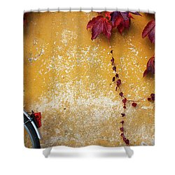 Shower Curtain featuring the photograph Autumn In Red by Yuri Santin