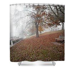 Autumn In River Cam Shower Curtain
