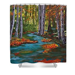 Autumn In The Air Shower Curtain