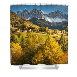 Autumn In The Alps Shower Curtain
