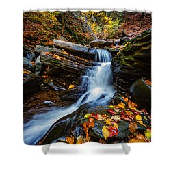 Autumn In The Catskills Shower Curtain by Rick Berk