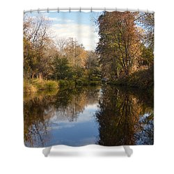Autumn In The Country Shower Curtain by Pamela Patch