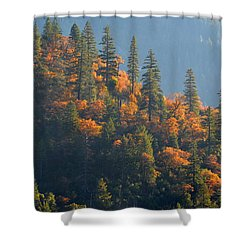 Autumn In The Feather River Canyon Shower Curtain by AJ Schibig